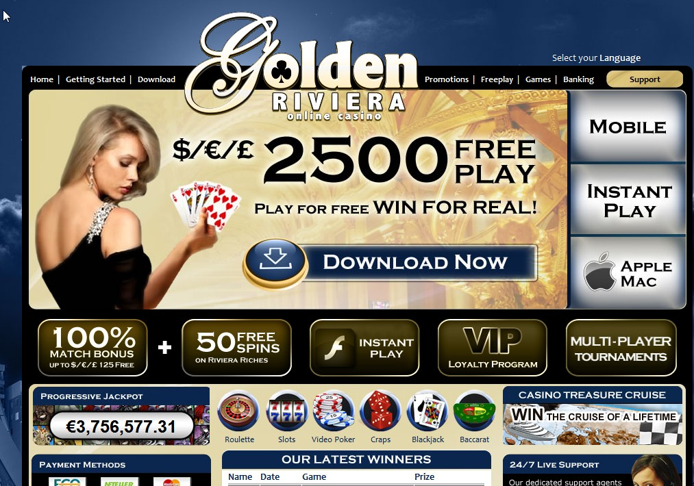 Golden Riviera Casino site